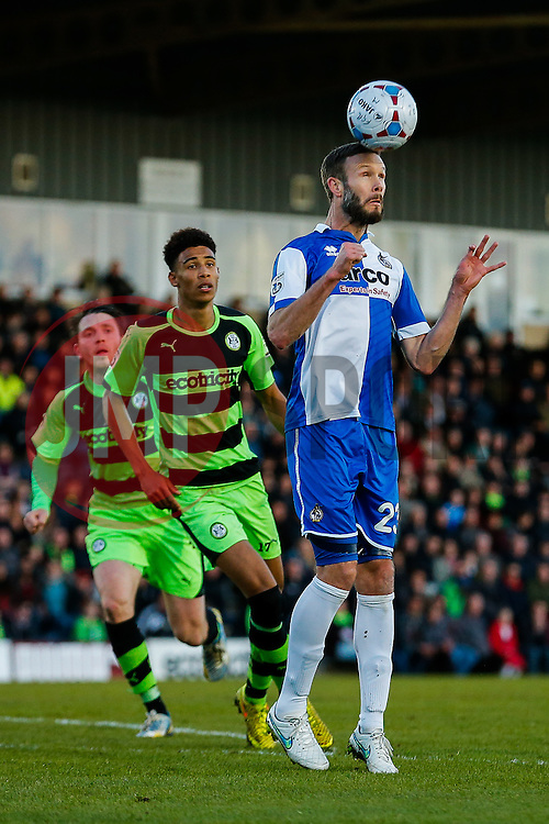 Andy Monkhouse of Bristol Rovers - Photo mandatory by-line: Rogan Thomson/JMP - 07966 386802 - 29/04/2015 - SPORT - FOOTBALL - Nailsworth, England - The New Lawn - Forest Green Rovers v Bristol Rovers - Vanarama Conference Premier - Playoff Semi Final 1st Leg.