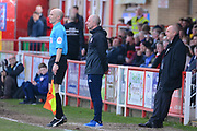 Accrington Stanley Manager John Coleman looks on during the EFL Sky Bet League 1 match between Accrington Stanley and Fleetwood Town at the Fraser Eagle Stadium, Accrington, England on 30 March 2019.