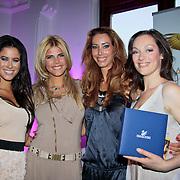 NLD/Amsterdam/20110521 - Amsterdam fashion Gala 2011, Melissa Sneekes met winnares Style Award  Kim Kotter, Carolien Van Twuijver en Miryanna van Rheeden
