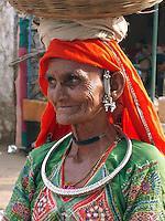 Woman from a Thar Desert community at the Pushkar Camel Fair, Rajasthan.