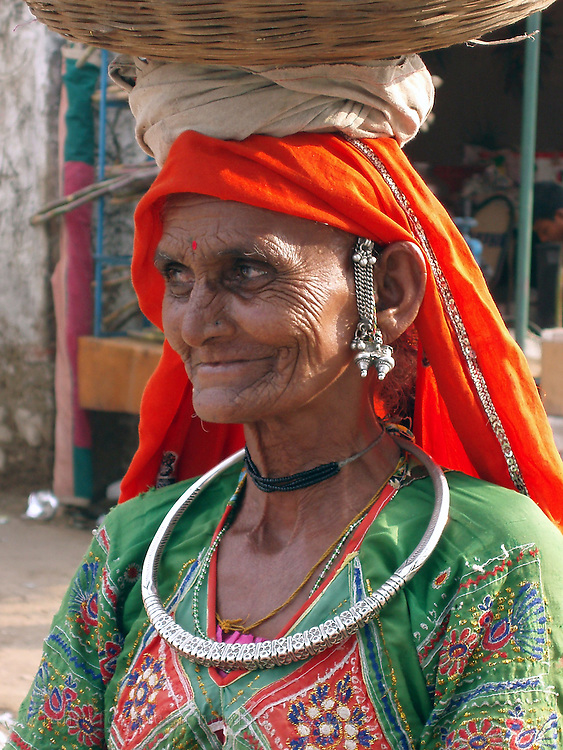 Woman from a Thar Desert community at the Pushkar Camel Fair, Rajasthan.
