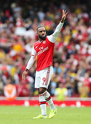 Alexandre Lacazette of Arsenal acknowledges the crowd at the final whistle - Mandatory by-line: Arron Gent/JMP - 17/08/2019 - FOOTBALL - Emirates Stadium - London, England - Arsenal v Burnley - Premier League