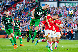 Nicolai Jorgensen of Feyenoord, Sven van Beek of Feyenoord, Stijn Wuytens of AZ during the Dutch Toto KNVB Cup Final match between AZ Alkmaar and Feyenoord on April 22, 2018 at the Kuip stadium in Rotterdam, The Netherlands.