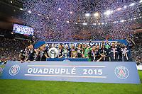 Joie PSG - 30.05.2015 - Auxerre / Paris Saint Germain - Finale Coupe de France<br />Photo : Andre Ferreira / Icon Sport