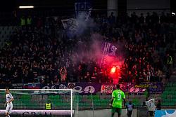 Fans of NK Maribor (Viole) during football match between NK Olimpija Ljubljana and NK Maribor in Semifinal of Slovenian Football Cup 2016/17, on April 5, 2017 in SRC Stozice, Ljubljana, Slovenia.  Photo by Ziga Zupan / Sportida