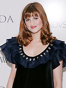 Designer Ashley Verrier poses at the 2008 CFDA Fashion Awards Nominee Announcement in the Rooftop Gardens at Rockefeller Center in New York City, USA on March 10, 2008