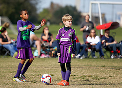 15 November 2015. New Orleans, Louisiana.<br /> New Orleans Jesters Youth Academy play Slidell.<br /> Jesters U10 Green II vs U9 Slidell. Jesters emerge victorious.<br /> Photo©; Charlie Varley/varleypix.com
