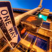 One Way Sign at 18th and Holmes, Kansas City MO.