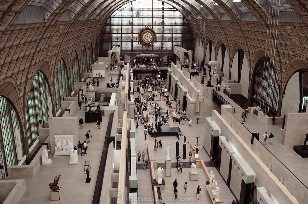 Musee D'Orsay art museum in a converted train station. Paris, France.