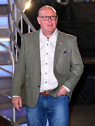 Nick Leeson leaves the house after finishing in fourth place during the live final of Celebrity Big Brother at Elstree Studios, Hertfordshire.