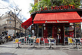 Paris Attacks, Empty Cafe and Resataurants