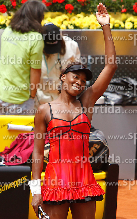 15.05.2010, Centercourt, Madrid, ESP, Sony Ericson WTA Tour, Madrid Open Women's Singles, Venus Williams (USA) vs Shahar Peer (ISR), im Bild Venus Williams during Tennis Madrid Open match, May 15,2010. EXPA Pictures © 2010, PhotoCredit: EXPA/ Alterphotos/ Acero / SPORTIDA PHOTO AGENCY
