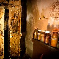 Old medical cabinet in old hospital
