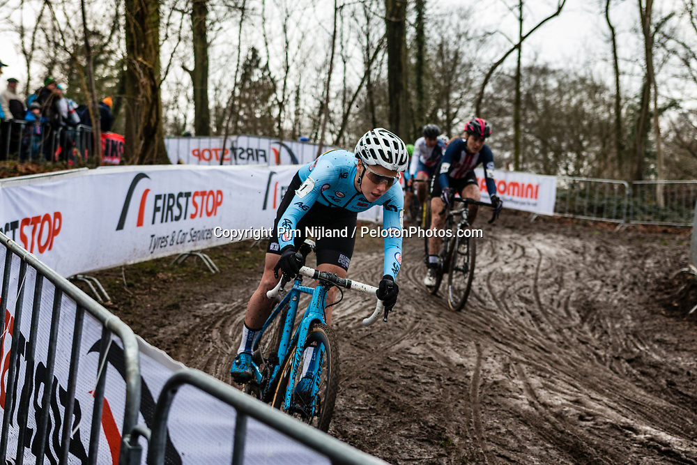 Sanne CANT of Belgium descending during 2nd lap of Women Elite race, UCI Cyclo-cross World Championships at Valkenburg, the Netherlands, 3 February 2018. Photo by Pim Nijland / PelotonPhotos.com | All photos usage must carry mandatory copyright credit (Peloton Photos | Pim Nijland)