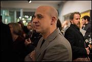 Steve Lazarides, Antony Micallef private at Lazarides Rathbone, 11 RATHBONE PLACE, London. 12 February 2015