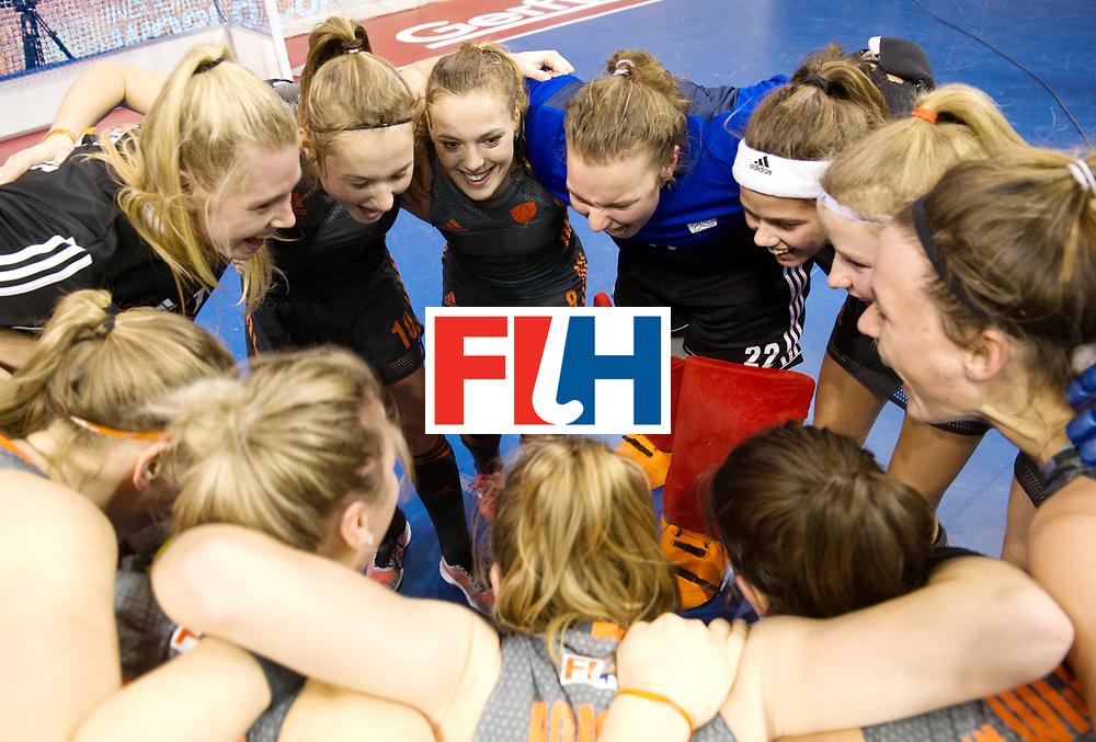 BERLIN - Indoor Hockey World Cup<br /> SF1 Netherlands - Ukraine<br /> foto: <br /> WORLDSPORTPICS COPYRIGHT FRANK UIJLENBROEK