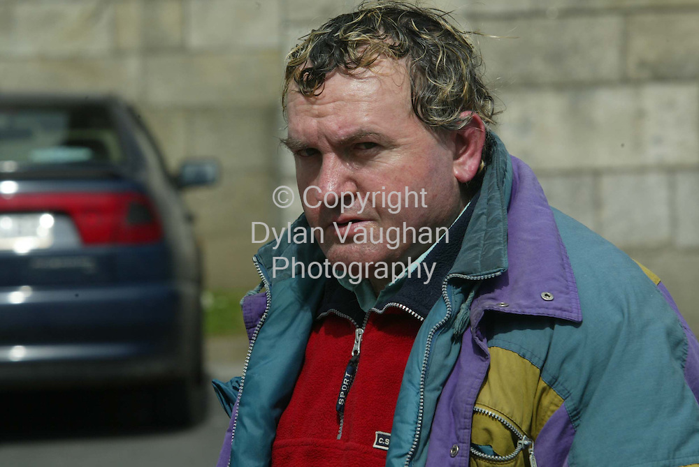 18/4/2002-Irl Sun.Owen Geoghan pictured leaving Waterford District Court yesterday..Picture Dylan Vaughan