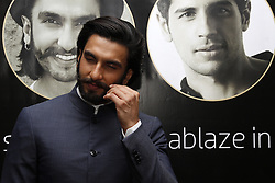 DURBAN - 5 September 2013 - Bollywood star Ranveer Singh twirls his moustach for  the media in Durban, South Africa, where he is attending the South Africa INdia Film and Television Awards. Picture: Giordano Stolley