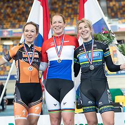 22-12-2019: Wielrennen: NK Baan Omnium: Apeldoorn<br />Kirsten Wild, Amy Pieters en Nina Kessler vormden het podium bij de vrouwen