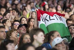 July 26, 2017 - Budapest, UNGERN - 170726 Ungerska fans hejar pÅ' sina simmare under sim-VM den 26 juli 2017 i Budapest  (Credit Image: © Joel Marklund/Bildbyran via ZUMA Wire)
