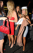17.JUNE.2009 - LONDON<br /> <br /> CHELSEA FOOTBALLER JOE COLE'S SOON TO BE WIFE CARLY ZUCKER ARRIVES AT MAHIKI CLUB, MAYFAIR AT 11.00PM WITH ALL FRIENDS FOR HER HEN NIGHT, HER AND HER FRIENDS STUMBLED OUT OF THERE AT 1.00AM AS CARLY HAD TO GET HELPED TO THE CAR THEY THEN HEADED ONTO MADDOX CLUB, MAYFAIR WHERE THEY PARTIED TILL 2.00AM AND LEFT LOOKING VERY WORSE FOR WEAR WITH HER FRIENDS TRYING TO COVER HER UP, THEY MUST OF  THEN GOT THE MUNCHIES ON THE WAY HOME AND WENT TO MAROUSH RESTAURANT, KNIGHTSBRIDGE FOR SOME FOOD AND AS THE CAR STOPPED TO LET THEM OUT CARLY JUST FLEW THE DOOR OPEN AND NEARKY FELL OUT BUT HER FRIENDS GRABBED HER BY THE ANKLE AND KEPT HER UP THEY ONLY STAYED FOR 15 MINUTES BEFORE CARLY HAD TO BE HELPED TO THE CAR AGAIN BEFORE CALLING IT A NIGHT AND HEADING HOME WHERE WHEN SHE GOT OUT THE CAR SHE FLASHED BEFORE BEING HELPED UP THE STAIRS AND INTO HER HOUSE. CARLY AND JOE ARE GETTING MARRIED ON SATURDAY.<br /> <br /> <br /> BYLINE: EDBIMAGEARCHIVE.COM<br /> <br /> *THIS IMAGE IS STRICTLY FOR UK NEWSPAPERS AND MAGAZINES ONLY* <br /> *FOR WORLDWIDE SALES AND WEB USE PLEASE CONTACT EDBIMAGEARCHIVE - 0208 954 5968*
