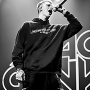 Machine Gun Kelly performs at the Fall Out Boy Mania Tour at the Don Haskins Center Tuesday Sept 25, 2018 in El Paso Texas, Andres Acosta | El Paso Herald-Post