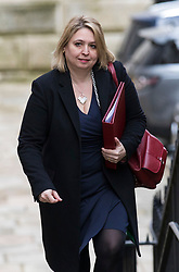 © Licensed to London News Pictures. 06/03/2018. London, UK. Secretary of State for Northern Ireland Karen Bradley on Downing Street for the weekly Cabinet meeting. Photo credit: Rob Pinney/LNP
