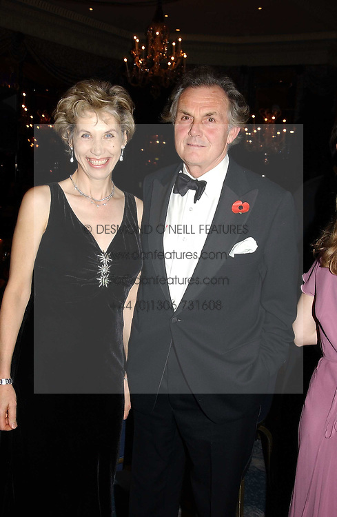 LORD & LADT HINDLIP at the Dyslexia Awards Dinner 2004 held at The Dorchester, Park Lane, London on 2nd November 2004.<br />