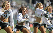 Oct 09 2016 - Oakland U.S. CA -Raiderettes during the NFL Football game between San Diego Chargers and the Oakland Raiders 34-31 win at O.co Coliseum Stadium Oakland Calif. Thurman James / CSM