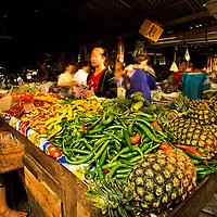Bustling fruit market, Luang Phrabang, Laos