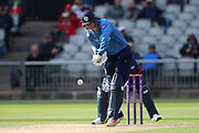 Derbyshires Matthew Critchley during the Royal London 1 Day Cup match between Lancashire County Cricket Club and Derbyshire County Cricket Club at the Emirates, Old Trafford, Manchester, United Kingdom on 2 May 2019.