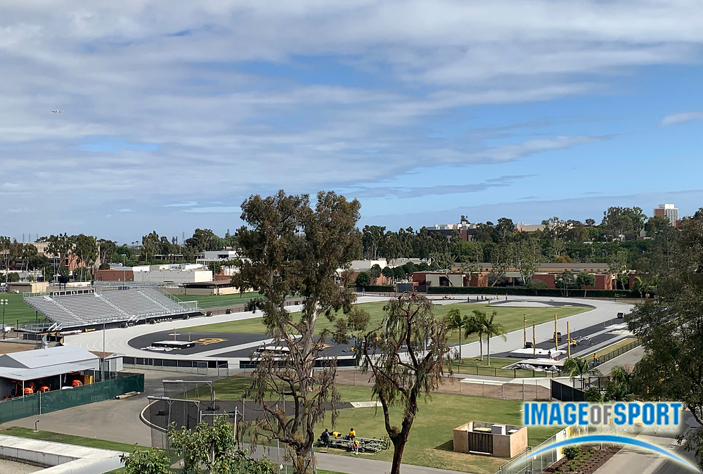 General overall view of Jack Rose Track on the campus of Long Beach State, Tuesday, April 30, 2019, in Long Beach, Calif.