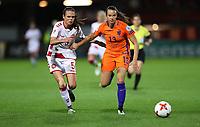 Football - 2017 UEFA Women's European [Euro] Championship - Group A : Netherlands vs. Denmark<br /> <br /> Simone Boye Sorensen of Denmark and Renate Jansen   of The Netherlands at Sparta Stadoin , Rotterdam.<br /> <br /> COLORSPORT/LYNNE CAMERON
