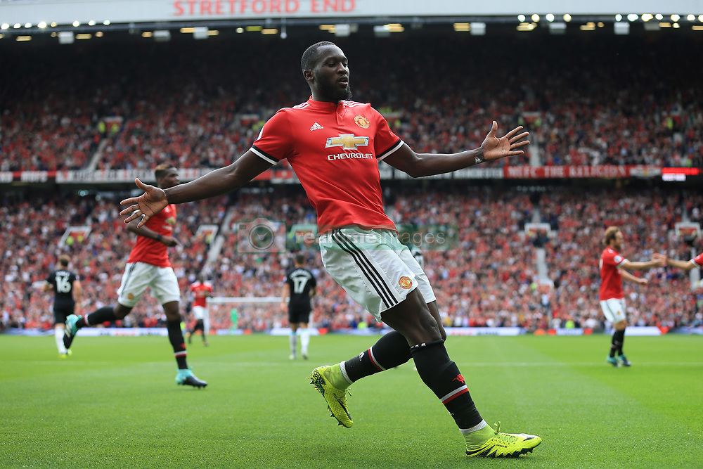 13th August 2017 - Premier League - Manchester United v West Ham United - Romelu Lukaku of Man Utd celebrates after scoring their 2nd goal - Photo: Simon Stacpoole / Offside.