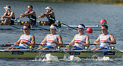 Rotterdam. Netherlands.  GBR BLM4X. Bow. <br /> Harry LEASK, Rowan<br /> LAW, Harry<br /> GLENISTER and  Andrew<br /> JOEL, Exhausted and disappointed.  2016 JWRC, U23 and Non Olympic Regatta. {WRCH2016}  at the Willem-Alexander Baan.   Friday  26/08/2016 <br /> <br /> [Mandatory Credit; Peter SPURRIER/Intersport Images]