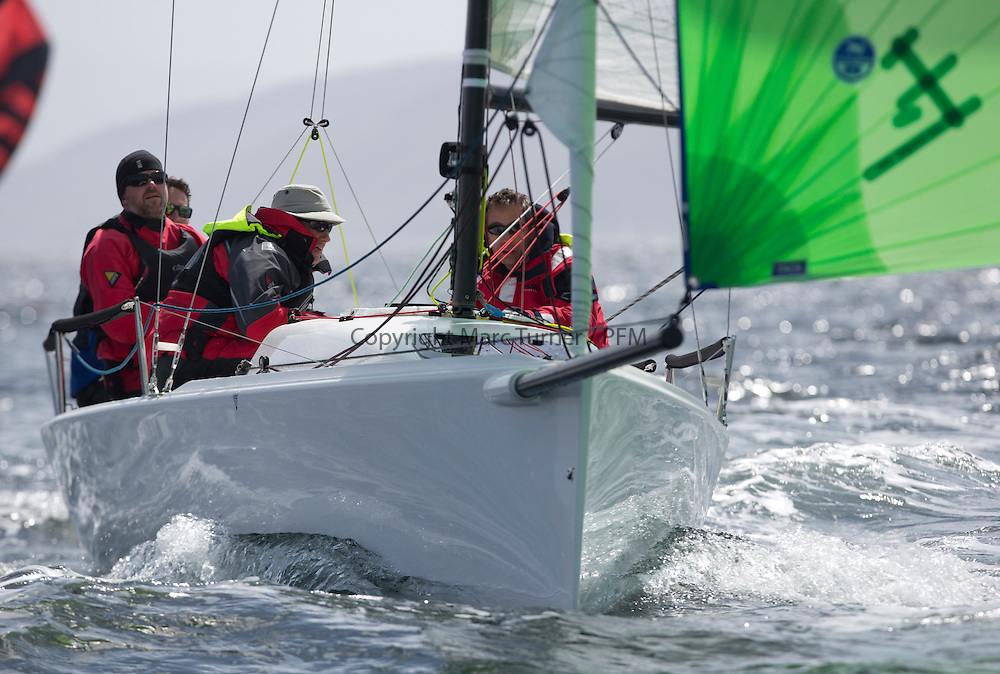 Day two of the Silvers Marine Scottish Series 2015, the largest sailing event in Scotland organised by the  Clyde Cruising Club<br /> Racing on Loch Fyne from 22rd-24th May 2015<br /> GBR117, Mojo, Donald Syme, FYC, <br /> <br /> Credit : Marc Turner / CCC<br /> For further information contact<br /> Iain Hurrel<br /> Mobile : 07766 116451<br /> Email : info@marine.blast.com<br /> <br /> For a full list of Silvers Marine Scottish Series sponsors visit http://www.clyde.org/scottish-series/sponsors/