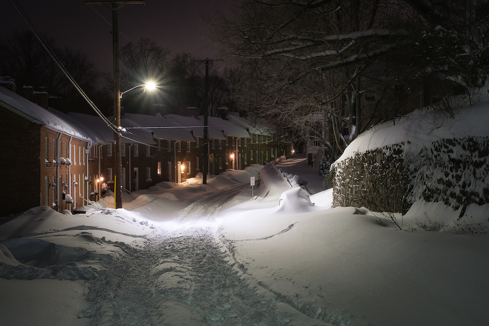Just after the blizzard stopped in Historic Oella, Maryland.