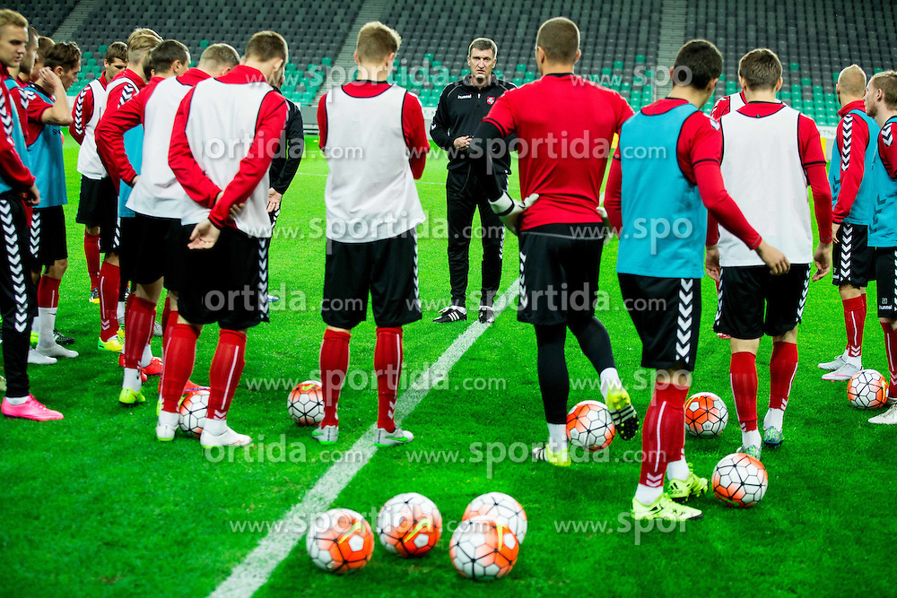 Igoris Pankratjevas, head coach during practice session of Lithuanian National Football team one day before Euro 2016 Qualifying game between Slovenia and Lithuania, on October 8, 2015 in SRC Stozice, Ljubljana Slovenia. Photo by Vid Ponikvar / Sportida