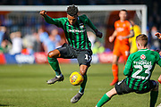 Coventry City defender Dujon Sterling (17) on loan from Chelsea, on the ball during the EFL Sky Bet League 1 match between Luton Town and Coventry City at Kenilworth Road, Luton, England on 24 February 2019.