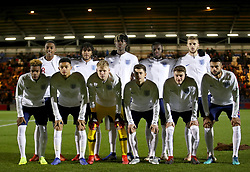 England U20 team group. Top row (left to right) Joe Willock, Reece James, Trevoh Chalobah, Eddie Nketiah and Sam Field. Bottom row (left to right) Grady Diangana, Andre Dozzell. Aaron Ramsdale, Adam Lewis, Elliot Embleton and Easah Suliman