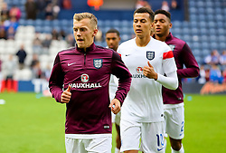 James Ward-Prowse of England U21 warms up - Mandatory byline: Matt McNulty/JMP - 07966386802 - 03/09/2015 - FOOTBALL - Deepdale Stadium -Preston,England - England U21 v USA U23 - U21 International