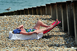 &copy; Licensed to London News Pictures. 24/07/2018<br /> EASTBOURNE, UK.<br /> Heatwave UK continues all this week as people in Eastbourne,East Sussex soak up the sunny weather this afternoon.<br /> Photo credit: Grant Falvey/LNP