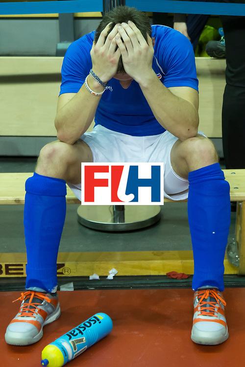 Hockey, Seizoen 2017-2018, 09-02-2018, Berlijn,  Max-Schmelling Halle, WK Zaalhockey 2018 MEN, Iran - Czech Republic 2-2 Iran Wins after shoutouts, no halve finale for czech republic.