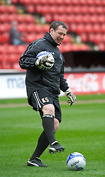 LONDON, ENGLAND - Saturday, March 5, 2011: Tranmere Rovers' Goalkeeping Coach Dave Timmins before the Football League One match at The Valley. (Photo by Gareth Davies/Propaganda)