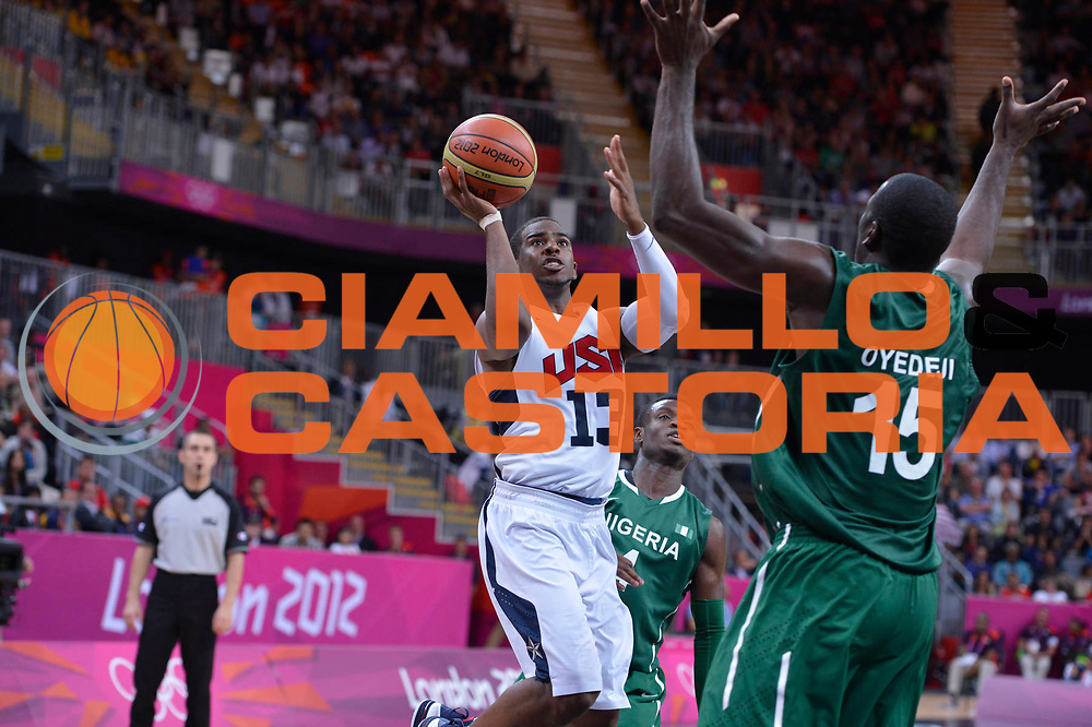 DESCRIZIONE : London Londra Olympic Games Olimpiadi 2012 Men Preliminary Round USA Nigeria<br /> GIOCATORE : Chris Paul<br /> CATEGORIA : <br /> SQUADRA : USA<br /> EVENTO : Olympic Games Olimpiadi 2012<br /> GARA : USA Nigeria<br /> DATA : 02/08/2012<br /> SPORT : Pallacanestro <br /> AUTORE : Agenzia Ciamillo-Castoria/M.Marchi<br /> Galleria : London Londra Olympic Games Olimpiadi 2012 <br /> Fotonotizia : London Londra Olympic Games Olimpiadi 2012 Men Preliminary Round USA Nigeria<br /> Predefinita :