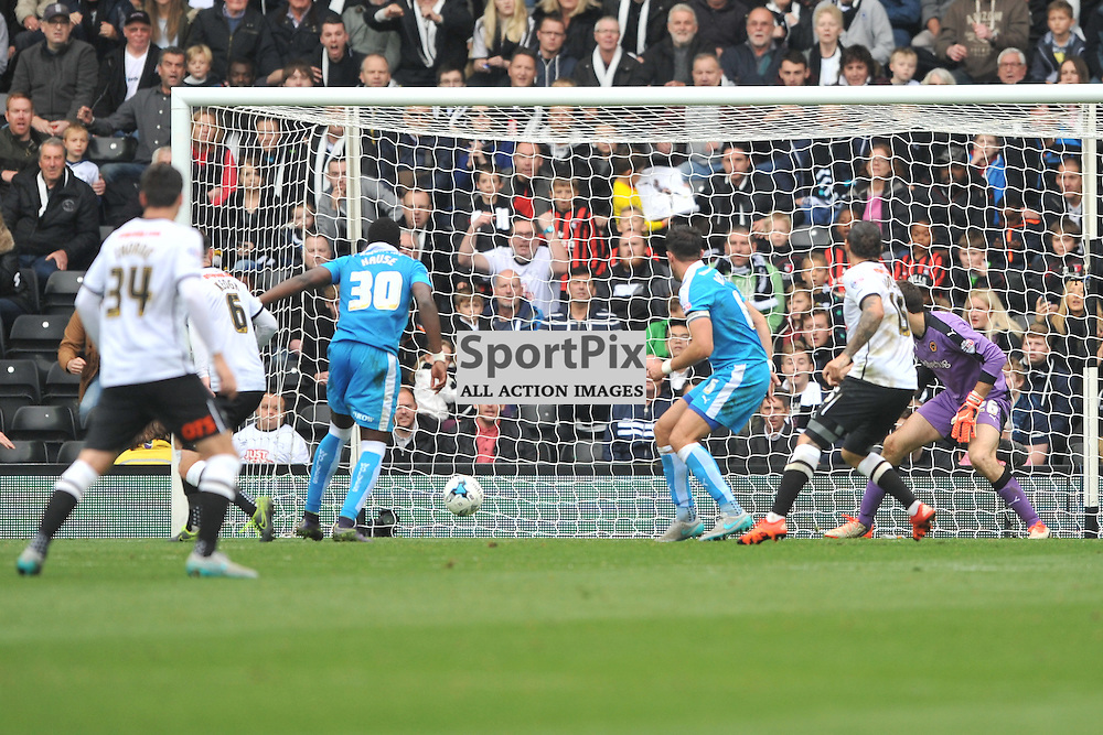 Bradley Johnson Fires in Derbys third goal,  Derby County v Wolves, Sky Bet Championship, Sunday 18th October 2015,