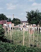 """Exposition La Forge """"Quelle vie"""", Saint-Ouen, Picardie, France. 21.06.2002."""