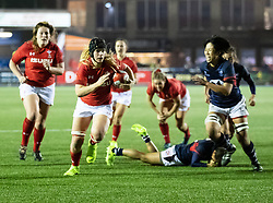 Bethan Lewis of Wales Women breaks to score<br /> <br /> Photographer Simon King/Replay Images<br /> <br /> Friendly - Wales Women v Hong Kong Women - Friday  16th November 2018 - Cardiff Arms Park - Cardiff<br /> <br /> World Copyright © Replay Images . All rights reserved. info@replayimages.co.uk - http://replayimages.co.uk