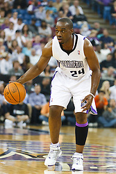 November 1, 2010; Sacramento, CA, USA;  Sacramento Kings power forward Carl Landry (24) during the first quarter against the Toronto Raptors at ARCO Arena. The Kings defeated the Raptors 111-108.