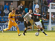 Dundee's Mark Kerr and Motherwell's Nicky Law  - Dundee v Motherwell, Clydesdale Bank Scottish Premier League at Dens Park.. - © David Young - 5 Foundry Place - Monifieth - DD5 4BB - Telephone 07765 252616 - email: davidyoungphoto@gmail.com - web: www.davidyoungphoto.co.uk